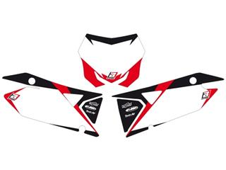 Fonds de plaque BLACKBIRD Graphic blanc Suzuki RM-Z450 - 78102422