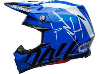 Casque BELL Moto-9 Flex Fasthouse DID 20 Gloss Blue/White taille M - 34227560-6653-4128-b7a0-049ec60839fa