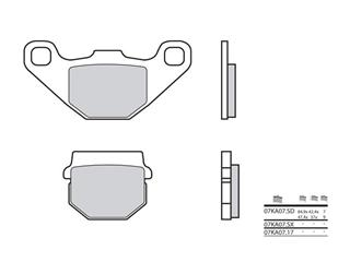 BREMBO Bremsbelage 07KA07SD sintermetall