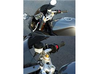 LSL Tour Match Raised Clip-on Bars Silver Daytona 675