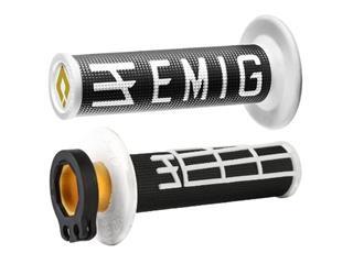 Revêtements ODI Emig V2 Lock-On noir/blanc - OG3903