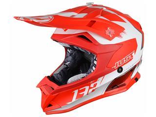 JUST1 J32 Pro Helmet Kick White/Red Matte Size S - 622721S
