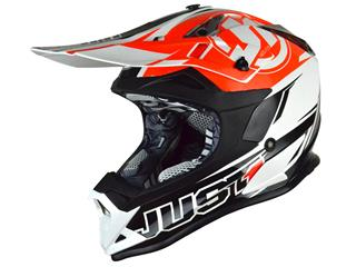 JUST1 J32 Pro Helmet Rave Black/Orange Size M