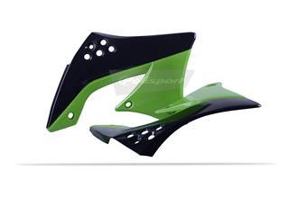 Ouïes de radiateur POLISPORT couleur origine noir/vert Kawasaki KX450F - 784129ST