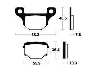 Plaquettes de frein TECNIUM ME85 organique - 37a7ec75-ded8-4f05-8720-239c601b402d