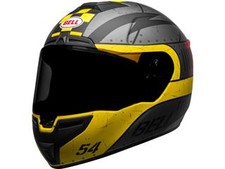 BELL SRT Helm Devil May Care Matte Gray/Yellow/Red Maat XL - 3813afe4-7442-4a03-9dc8-62e966027f8d