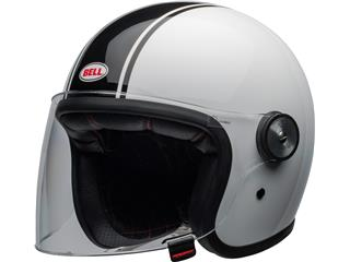 Casque BELL Riot Rapid Gloss White/Black taille XXL - 800000069972