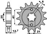 Pignon PBR 18 dents acier standard pas 530 type 288 Honda CB750K - 46000196