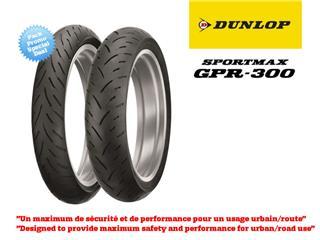 Train de pneus Sport-Touring DUNLOP Sportmax GPR300 (120/60ZR17 + 160/60ZR17)