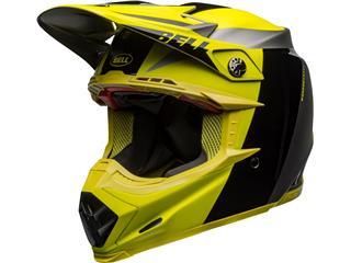 BELL Moto-9 Flex Helm Division Zwart/Hi Viz/Grijs Maat M
