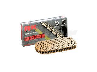 Cadena RK GB530GXW con 114 eslabones oro