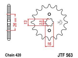Pignon JT SPROCKETS 12 dents acier standard pas 420 type 563 - 39a19afb-f186-45e3-a552-478b7c2f020c