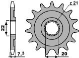 PBR Ritzel 14 Zähne Kette 520 HONDA CR125R