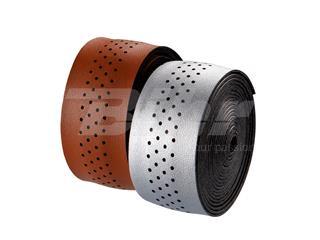 Cinta de manillar VELO microfibra agujereada plata