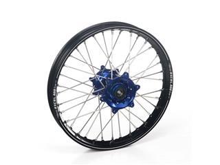 Roue Arrière complète Haan Wheels A60 19 X 2.15 X 36T jante noire/moyeu bleu Yamaha YZ250 - HW77004754