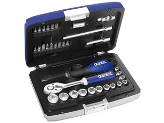 "EXPERT 1/4"" sockets & ratchet set"