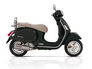 YASUNI Scooter 4 Exhaust System Titanium Look Stainless Slip-on/Black End Cap Piaggio Vespa GTS 300