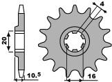 VOORTANDWIEL 15 TANDEN RV125 VANVAN K3,K4 '03-04