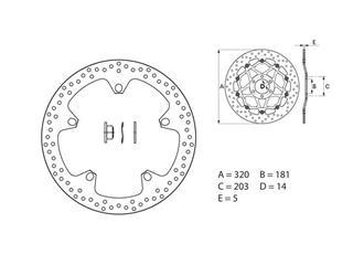 Disque de frein BREMBO Oro rond fixe - 35700132