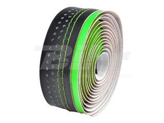 Fita de guiador Velo, em microfibra furada, verde/preta - 35496