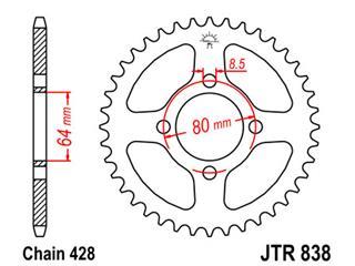 Couronne JT SPROCKETS 45 dents acier standard pas 428 type 838 - 47083845