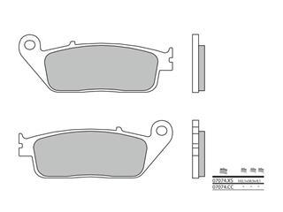 Plaquettes de frein BREMBO 07074CC carbone céramique
