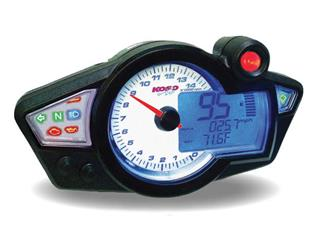 KOSO RX1N GP Style Multifonction Speedometer White Background Universal