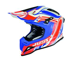 JUST1 J12 Helmet Flame Red/Blue Size XS - 433523XS