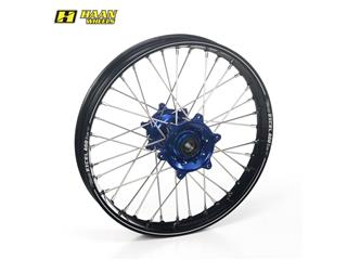 HAAN WHEELS A60 Complete Rear Wheel 19x2,15x36T Black Rim/Blue Hub/Silver Spokes/Silver Spoke Nuts