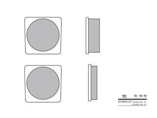 Plaquettes de frein BREMBO 07YA0527 organique
