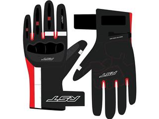 RST Pilot CE Gloves Leather Black/Red/White Size XXL Men