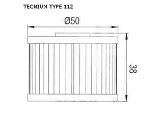 TECNIUM Type 112 Oil Filter - 3f77025f-d617-4f75-bf8c-289393759fb6