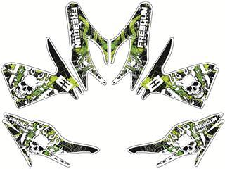 Deko-Kit Freegun Firehead grün Kutvek MBK Stunt