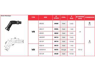 Anti-parasite NGK VB05FP noir pour bougie sans olive - 32VB05FP