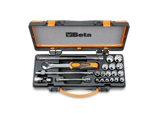 BETA Set of 16 12 points Sockets and 5 accessories