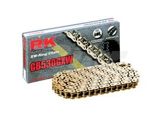 Cadena RK GB530GXW con 124 eslabones oro