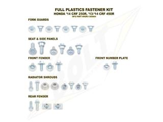 Complete set of Bolt plastic screws for Honda CRF250R