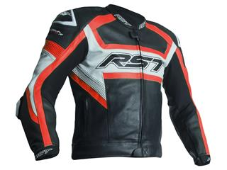 RST TracTech Evo R Jacket CE Leather Flo Red Size M