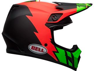 Capacete Bell MX-9 MIPS Strike Vermelha/Verde/Preta, Tamanho XS