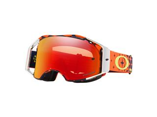 OAKLEY Airbrake MX Goggle Troy Lee Designs Megaburst Prizm MX Torch Iridium Lens