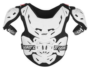 LEATT 5.5 Pro Chest ProtectorHard Shell White Junior 134/159cm