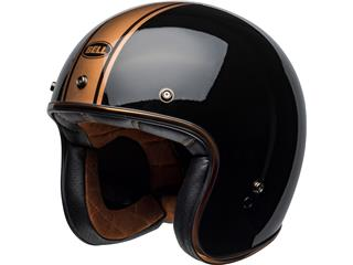 Casque BELL Custom 500 DLX Rally Gloss Black/Bronze taille XL - 800000974971