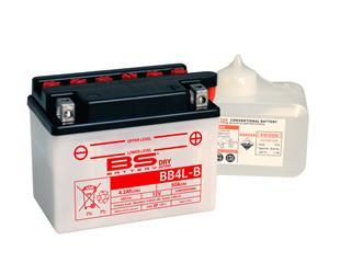 Batterie BS BATTERY BB4L-B conventionnelle livrée avec pack acide - 321274