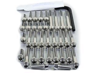 Kit tornillería aluminio motor+cárter Pro-Bolt ESU146R Rojo