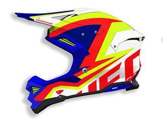UFO Diamond Helm Wit/Blauw/Geel/Rood Maat XL
