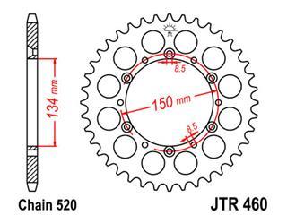 Couronne JT SPROCKETS 51 dents acier standard pas 520 type 460