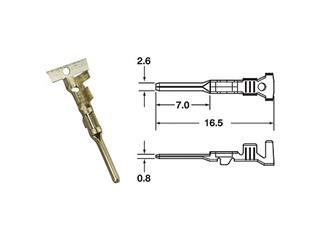 Cosse mâle générique BIHR Ø0,85mm²/1,25mm²