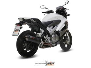 Silencieux MIVV Oval Carbon Cap carbone Honda VFR800 Crossrunner