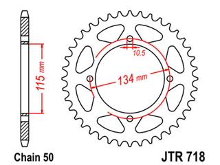 Couronne JT SPROCKETS 48 dents acier standard pas 530 type 718 - 47071848