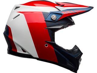 Capacete Bell MOTO-9 FLEX Division Branca/Azul/Vermelha, Tamanho XS